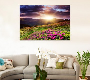 Sunrise, Dual View Surprise Artwork Modern Framed Ready to Hang