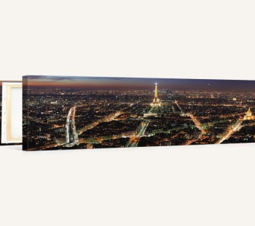 Paris City Night Panoramic View