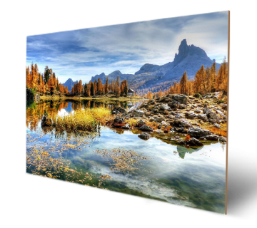 Beautiful Landscape with Mountains and Italy Wooden Art