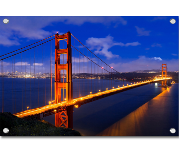 Golden Gate Bridge San Francisco California and Marin County California USA
