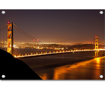 Night Look Golden Gate Bridge San Francisco USA