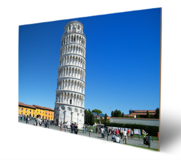 The Leaning Tower of Pisa Wooden Art