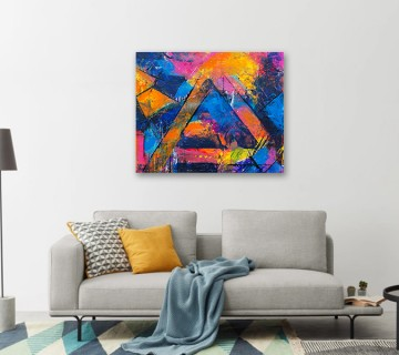 Multi colour abstract print