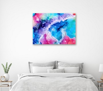 Beautiful multi colour art print reprinted on cotton canvas