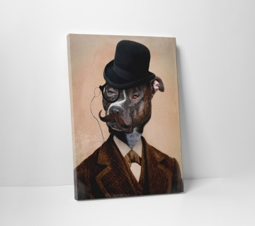 Dog in Suit and Hat