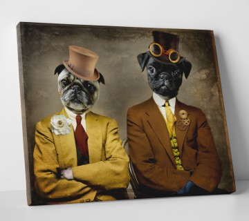 Pug in Suit and Hat