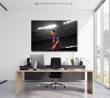 Leo Messi FC Barcelona Football Stretched Canvas frame / Acrylic Print