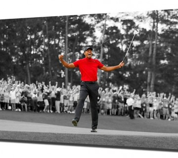 Tiger Woods Ultimate Comeback 2019 Masters Win Canvas Frame