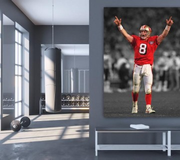 Steve Young San Francisco Stretched Canvas Frame