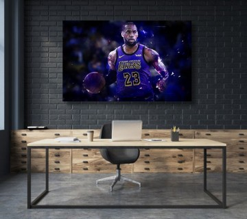 LeBron James The King Los Angeles Lakers NBA Canvas frame
