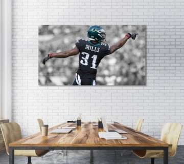 Jalen Mills Philadelphia Eagles Stretched Canvas frame / Acrylic Print