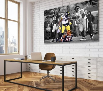 JuJu Smith-Schuster Pittsburgh Steelers NFL Revenge Hit on Burfict Canvas frame