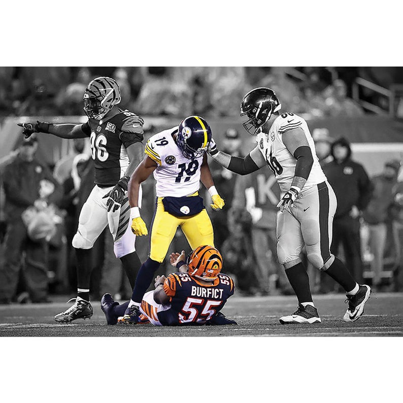 JuJu Smith-Schuster Pittsburgh Steelers NFL Revenge Canvas