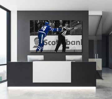 Auston Matthews Savage Celly Toronto Maple Leafs Canvas frame / Acrylic Print