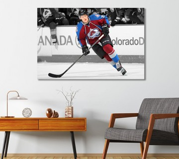 Nathan MacKinnon Colorado Avalanche NHL Canvas Frame