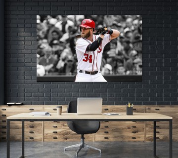 "Bryce Harper ""Overrated"" Philadelphia Phillies MLB Canvas frame / Acrylic Print"
