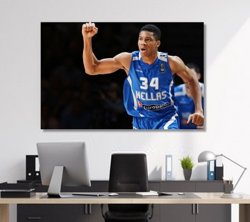 Float Giannis Antetokounmpo Stretched Canvas frame / Acrylic Print