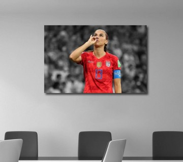 Alex Morgan Sipping Tea Celebration 2019 FIFA Women's World Cup Canvas Frame / Acrylic Print