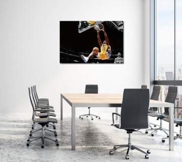 Shaquille O'Neil Shaq NBA Legend Los Angeles Lakers Canvas frame / Acrylic Print