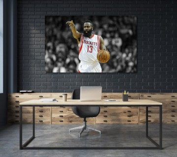 Float James Harden - Basketball Stretched Canvas frame / Acrylic Print
