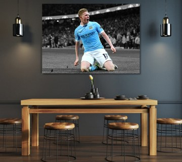 Kevin De Bruyne Manchester City FC Canvas frame / Acrylic Print