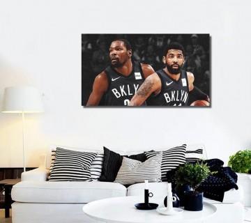 Kevin Durant x Kyrie Irving - Basketball Stretched Canvas frame