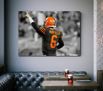 Baker Mayfield Feelin' Dangerous Cleveland Browns NFL Canvas frame / Acrylic Print