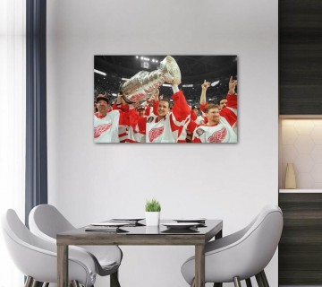 Steve Yzerman Welcome Home Stretched Canvas frame / Acrylic Print