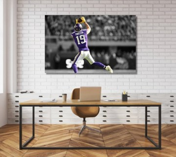 Adam Thielen The Underdog Minnesota Vikings NFL Canvas frame