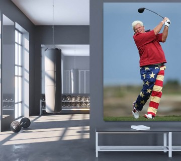 John Daly American Hero Golf Icon Stretched Canvas frame / Acrylic Print