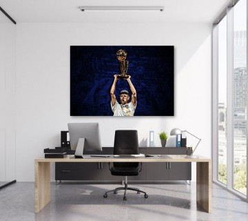 Dirk Nowitzki Dallas Mavericks Basketball Legend Canvas frame / Acrylic Print