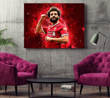 Mo Salah Liverpool FC 2019 Champions League Final Winning-Goal Celebration Canvas Frame