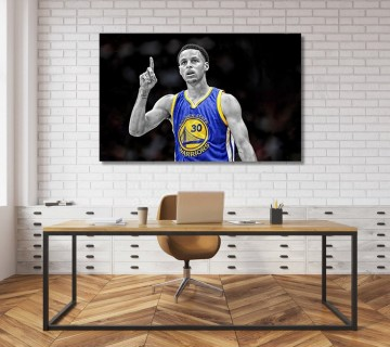 Steph Curry Golden State Warriors NBA Canvas frame
