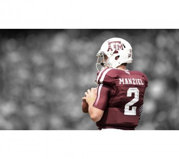 Johnny Manziel Money Manziel Texas A&M Football Canvas frame
