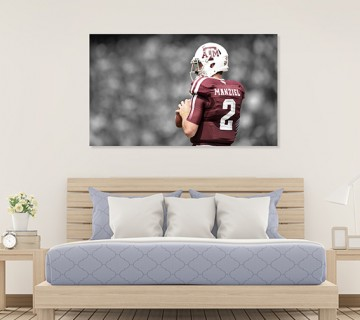 Johnny Manziel Money Manziel Texas A&M Football Canvas frame / Acrylic Print