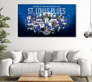 St. Louis Blues 2019 Stanley Cup Champions Commemorative Canvas frame / Acrylic Print