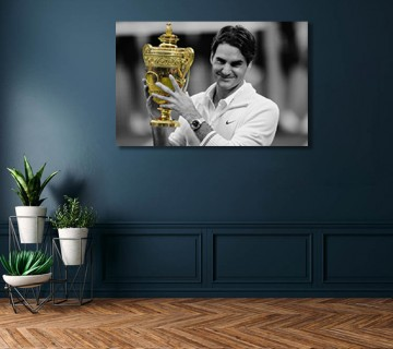 Roger Federer Tennis Legend The Greatest of All Time Canvas frame / Acrylic Print