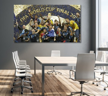 Team France 2018 World Cup Champions Canvas frame / Acrylic Print