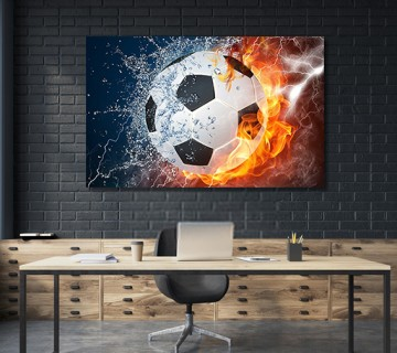 Soccer Wall Art,Soccer Wall Decor,Soccer  Canvas Frame / Acrylic Print