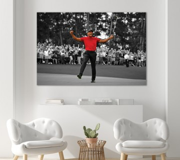 Tiger Woods Ultimate Comeback 2019 Masters Win Canvas Frame / Acrylic Print