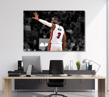 Dwayne Wade Miami for ever Miami heat Custom Canvas frame / Acrylic Print