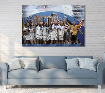 USA Women's Soccer 2019 World Cup Champions Canvas frame / Acrylic Print