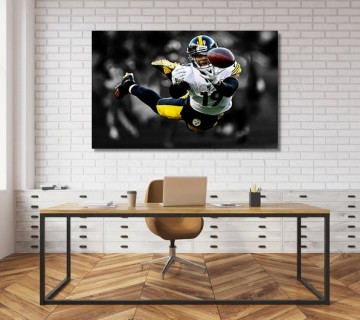 JuJu Smith-Schuster Pittsburgh Steelers Revenge Hit on Burfict Canvas frame / Acrylic Print