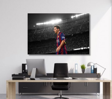 Lionel Messi Soccer Canvas frame / Acrylic Print