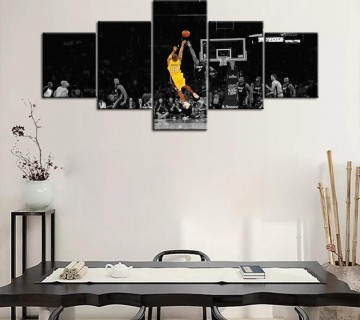 Basketball Player Kobe Bryant of Lakers at Staples Center in Los Angeles Pictures Print On Canvas