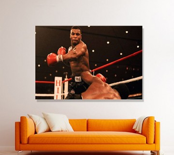 Mike Tyson Iconic Moment Canvas Frame, Canvas wall art, Canvas wall decor ready to hang