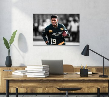 Juju Smith Schuster Sports Canvas Frame, Football Canvas Wall Art / Acrylic Print