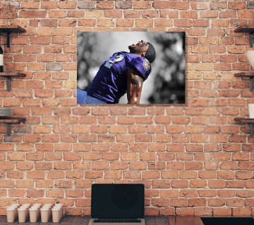 Ray Lewis Canvas Print, Sports Canvas Frame, Football Canvas Wall Art / Acrylic Print