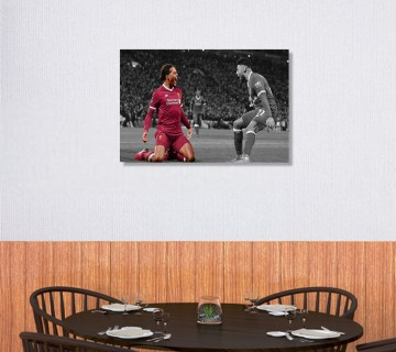 Virgil Van Dijk Canvas Wall Ar, Football Canvas Wall Art / Acrylic Print
