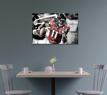 Julio Jones Canvas Wall Art, Sports Canvas Frame, Different Variation Canvas / Acrylic Print